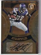 2021 Panini Gold Standard Adrian Peterson Golden Records Auto Limited To 5 Aut