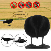 Full Body Crow Decoy Hunting Flocked Pest Control Repeller With Sound ✔ Pp Xx