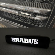 Mb G-wagon G63 G500 W463 Abs Front Grille Brabus Style Badge White Led