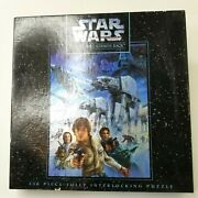 Star Wars Empire Strikes Back 550 Puzzle 18x 24 4498-2 Sealed Mb Sealed