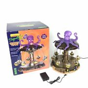 Rare Retired Lemax Spooky Town 2011 Octo Swing Halloween Carnival Ride With Box