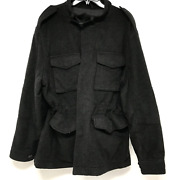 Polo By Dark Gray Wool Cashmere Blend Tactical Field Jacket Sz Xl
