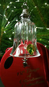 Waterford Crystal 12 Days Of Christmas 9 Ladies Dancing Bell Ornament Mint Boxed