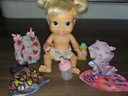 Hasbro Baby Alive My First Teeth Clothes Bottle 4 Outfit Lot