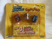 Topps Wacky Erasers 6 Pack Funny Gag Gift Stocking Stuffer Fake Food Cookies