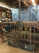 Tuscan Old World Iron Arched Scroll Garden/wine Cellar Gate 4 Ft. Wide 6ft Tall