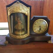 Vintage United Self Starting Clock With Rotating Musical Ballerina