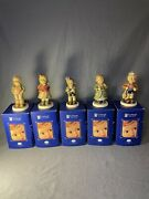 5 Hummel Collector Club Soprano,little Luck,first Mate,clear As A Bell,keeping