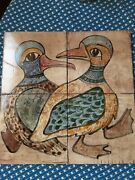 Hand Painted Tiles 1977 Vintage
