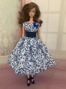 Handmade Dress Clothes Fits Reproduction Silkstone And Vintage Barbie Dolls