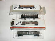 2 New Boxed N Scale Southern Pacific Cars Coal Gondola-pipe Transport File6847