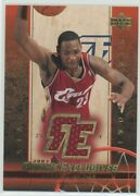 2003-04 Upper Deck Lebron James Rookie Exclusives Gold Jersey Rookie Card Rc