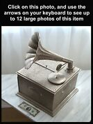 Rare Large Vintage Fred Zimbalist Thorens Horn Phonograph Music Box Disc Player