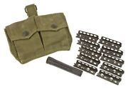 10 Ct. British Lee Enfield Smle No1mk3 No4mki 303 Stripper Clips Pouch And Oiler