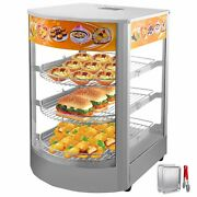 Commercial Food Warmer Court Heat Food Pizza Display Warmer Cabinet 26 Glass