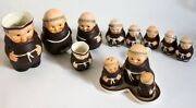 Goebel Friar Tuck Monk Collection 13 Pieces Condiment Set Shakers Pitchers Bee