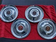 Vintage Cadillac Sombrero 15 Lyons Hubcaps Wheel Cover Discs Custom Stainless
