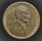 1909 S Vdb 1 Cent Lincoln Cent. Key Date Bu.