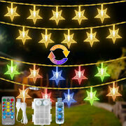 15m 100leds Twinkle Stars Fairy String Lights Color Changing Christmas Wedding