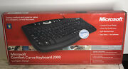 Microsoft Comfort Curve 2000 B2l00002 Wired Keyboard Comfort Compact Design