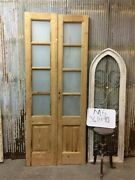 8 Pane French Glass Doors, Antique French Double Doors, Old Wood Doors, M5