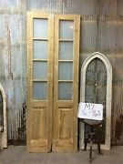 8 Pane French Glass Doors, Antique French Double Doors, Old Wood Doors, M7