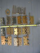 9 Antique Hinge Pins,and Hinge Parts,please Look At All Pictures.ask Questions.