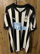 Newcastle United Nufc 2017-18 Home Shirt Kit Top Xl