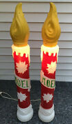 Lot Of 2 Empire Christmas Candle Lantern Lamp Post Blow Mold Lights 38
