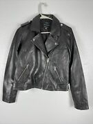 Lucky Brand 100 Lamb Leather Black Moto Jacket Nwt Msrp 299