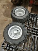 Toro Wheel Horse 520-h Front Wheels And Tires Used For Swept Axle 1 Bearings