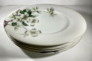 4 Meito Norleans Livonia Dogwood 10.5 Dinner Plates Occupied Japan