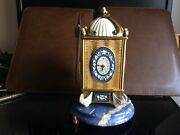 Carl Faberge Sterling Silver And Lapis Clock