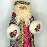 Vintage Father Christmas Handcrafted Old World Regal Majestic Santa Doll 19