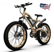 Mountain Electric Bike Bicycle Ebike 48v 1500w 15ah Lithium Removable Battery