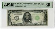 1934 1000 One Thousand Dollars Federal Reserve Note New York Pmg 30 - Jm188
