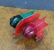 Vintage Delta Boat Bow Lights Red And Green Usa