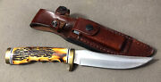 Schrade 153uhcp Uncle Henry Golden Spike Delrin Stag Knife 9 1/2 Overall 153uh