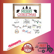 Farmhouse Wall Décor Signs With 10 Interchangeable Sayings Perfect For Christmas
