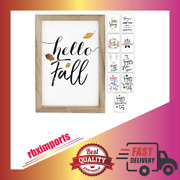 Farmhouse Wall Décor Signs With 10 Interchangeable Sayings For Fall Home Décor