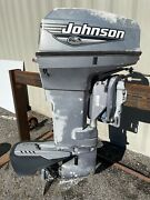 1999 Johnson 50hp Outboard Engine 2 Stroke 20 Shaft - Needs Some Work