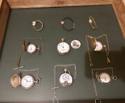 9 Each Vintage Wrist And Pocket Watches.50 Off… King Orient, Arnex, South Bend