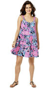 Nwt Lilly Pulitzer Loro Dress In Turtle Amazement Size Large Free Shipping