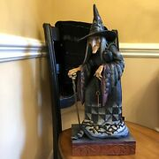 Jim Shore Halloween Old Witch With Cane Rare With Original Box 23 Tall