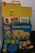 Vintage Weebles Cottage 1973 Hasbro Romper Room Toy Box Accessories 591