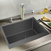 302110inch Country Farmhouse Stainless Steel Sink Apron Front Deep Single Bowl