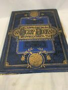 Victorian Blue And Gilt Cover Scrapbook, Greeting Cards, Scraps, Postcards,