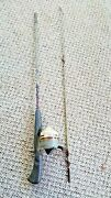 Vintage Zebco 4018 Medium Action 5' 2pc. Casting Rod And Zebco 202 Reel Combo