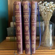 Les Miserables By Victor Hugo, 3 Volume Set I, Ii, Ii, Thomas Nelson And Sons