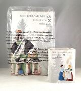 Dept 56 Lot Of 2 Calico Quilts + Ms Quilt Town New England D56 New Department56